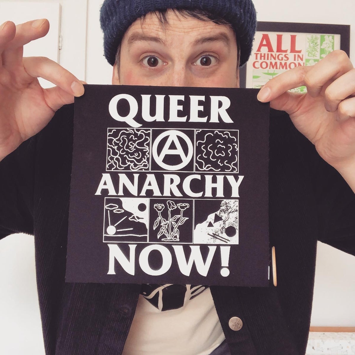 Image of Queer Anarchy Now! large fabric patch
