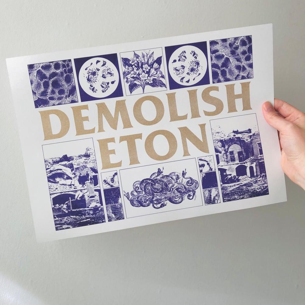 Image of DEMOLISH ETON A3 riso print