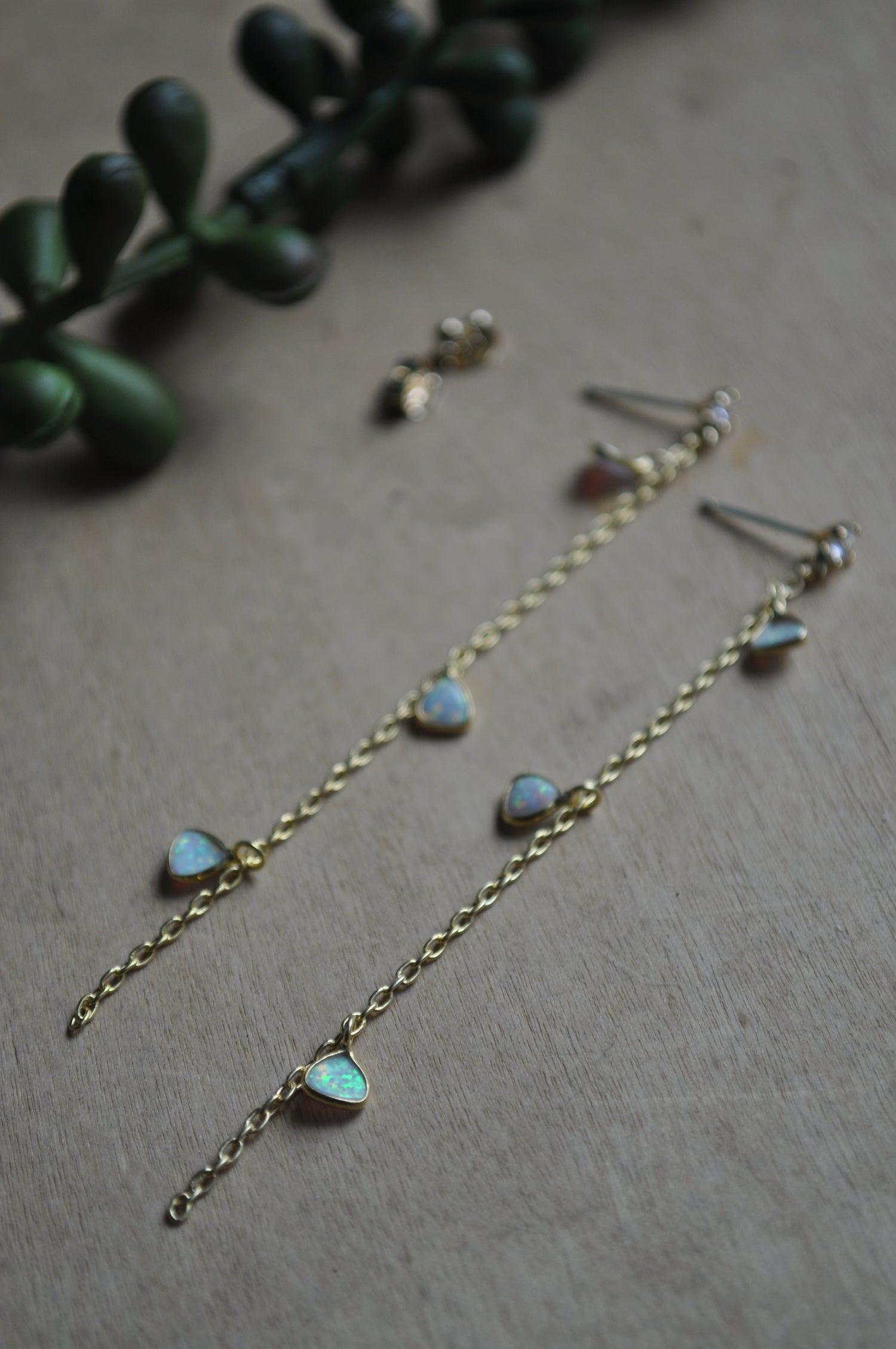 Image of Rainfall Dangles in CZ & Synthetic Opal