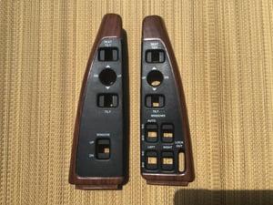 Image of 91-96 Chevy Caprice Impala SS Buick Switch Panels Housing (Black & Woodgrain)