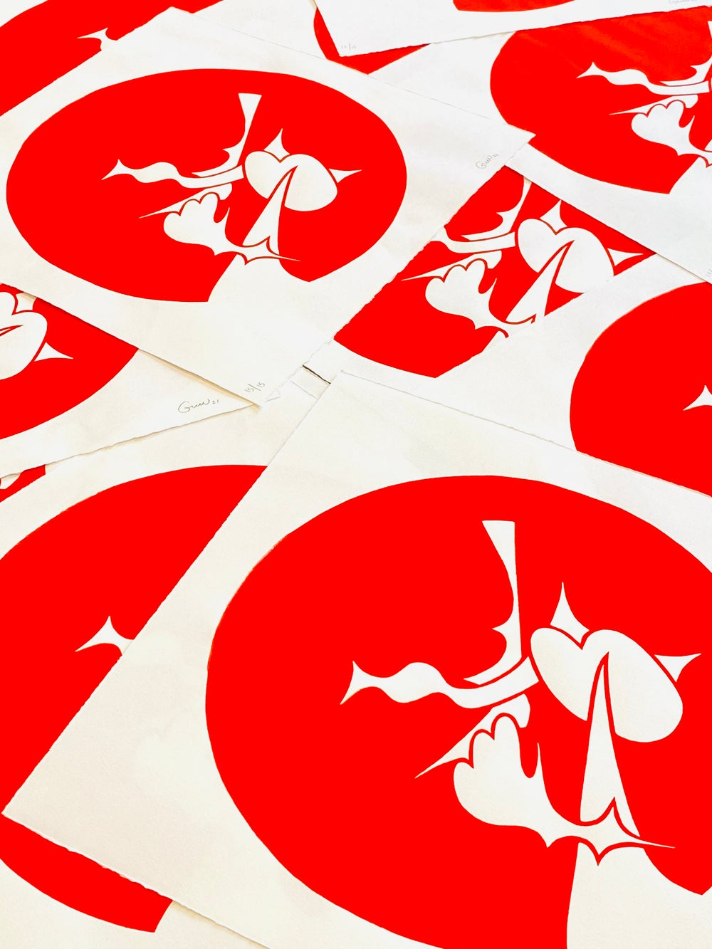 Proteus Screen Print Red