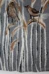 Birds in reeds felt picture, wall art