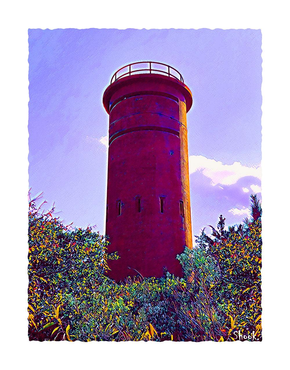 Lookout Tower, Dewey Beach DE Giclée Art Print - (Multi-Size Options)