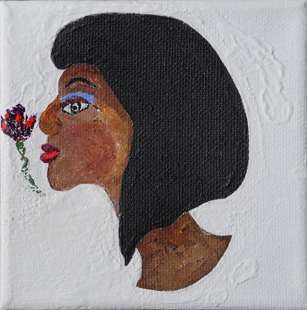 Image of Smelling the Flower