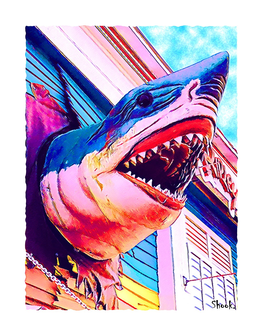 Ripley's Believe it or Not! Shark, Ocean City MD Giclée Art Print - (Multi-Size Options)