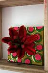 Felt flower wall art