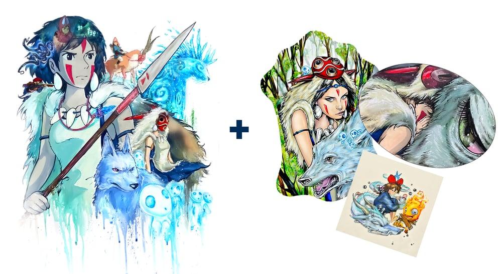 "Image of Limited Edition ""Princess Mononoke 2.0"" Holographic Print Pack"