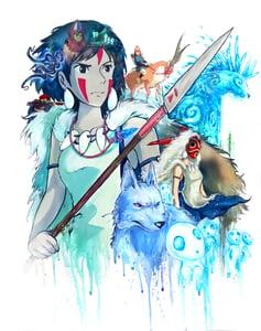 """Image of  """"Princess Mononoke 2.0"""" Original Painting"""