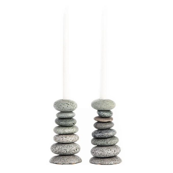 Image of Cairn Candlestick Holder