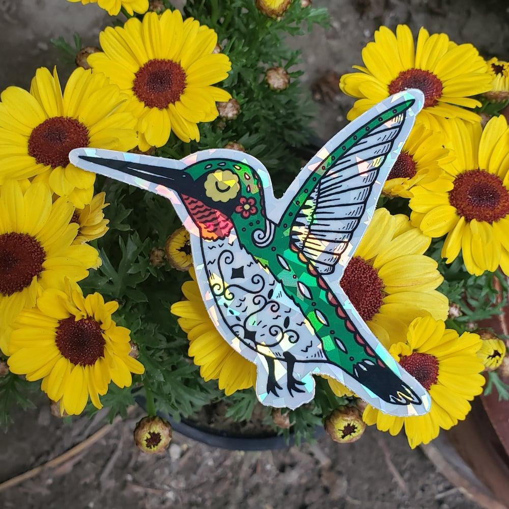 Hummingbird Holographic Sticker
