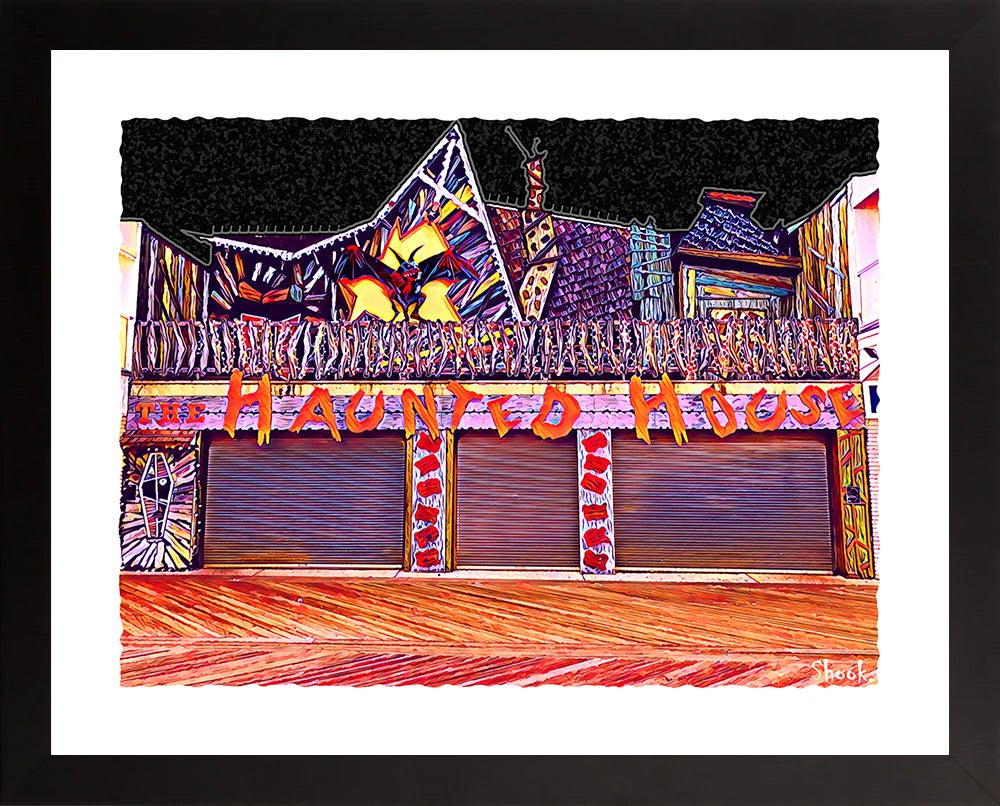 The Haunted House, Ocean City MD Giclée Art Print (Multi-Size Options)