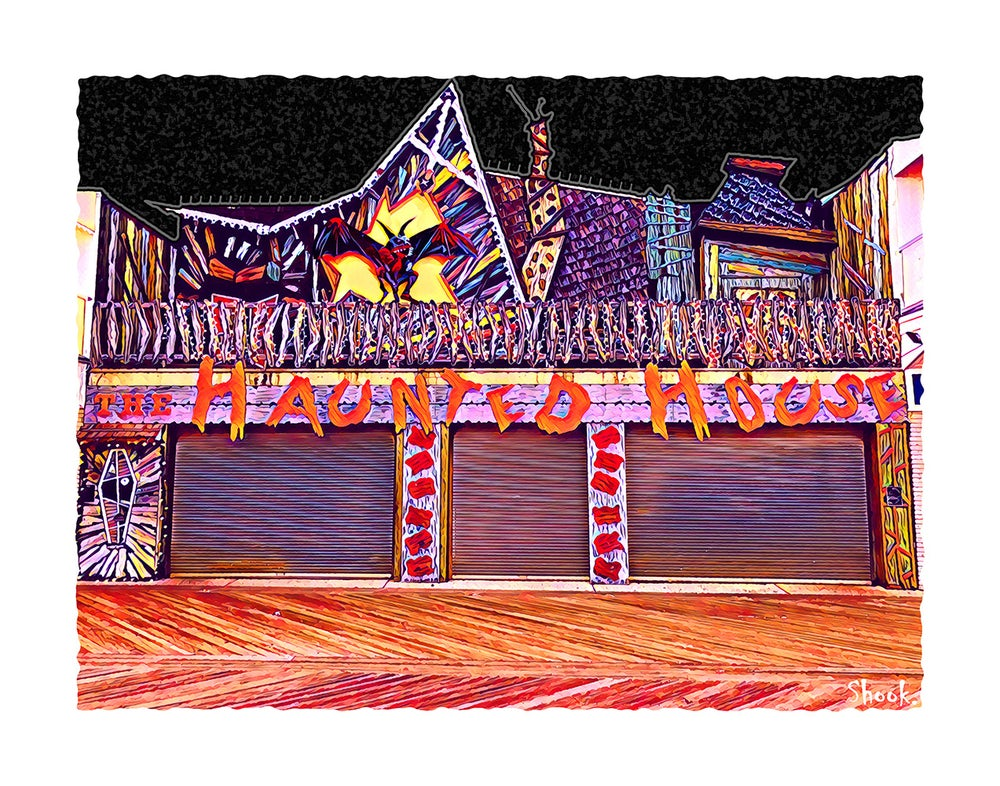 The Haunted House, Ocean City MD Giclée Art Print - (Multi-Size Options)