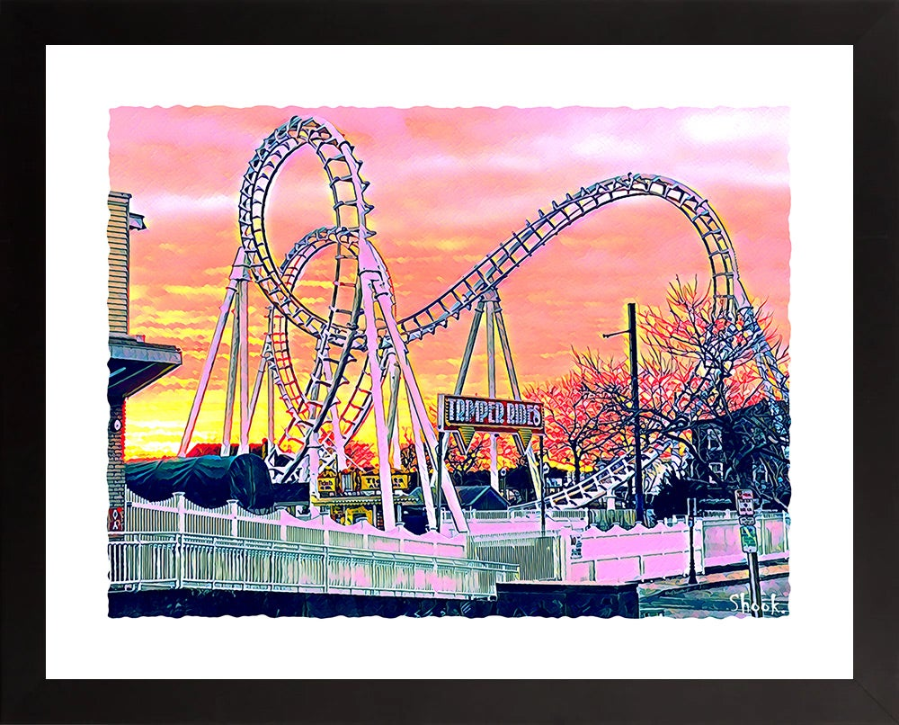 Trimper's Roller Coaster, Ocean City MD Giclée Art Print - (Multi-Size Options)