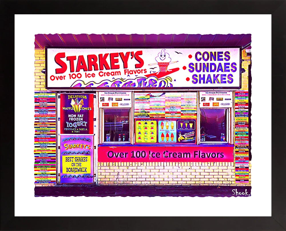 Starkey's Ice Cream, Rehoboth Beach DE Giclée Art Print - (Multi-Size Options)