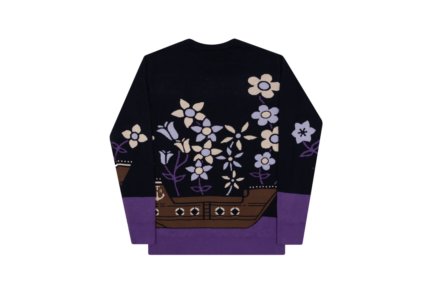Image of ATR RGLR FLORAL SWEATER NAVY