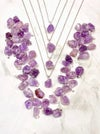 "AMETHYST WITH 24"" SHINY SILVER CHAIN (OPTIONAL) - BRAZIL"