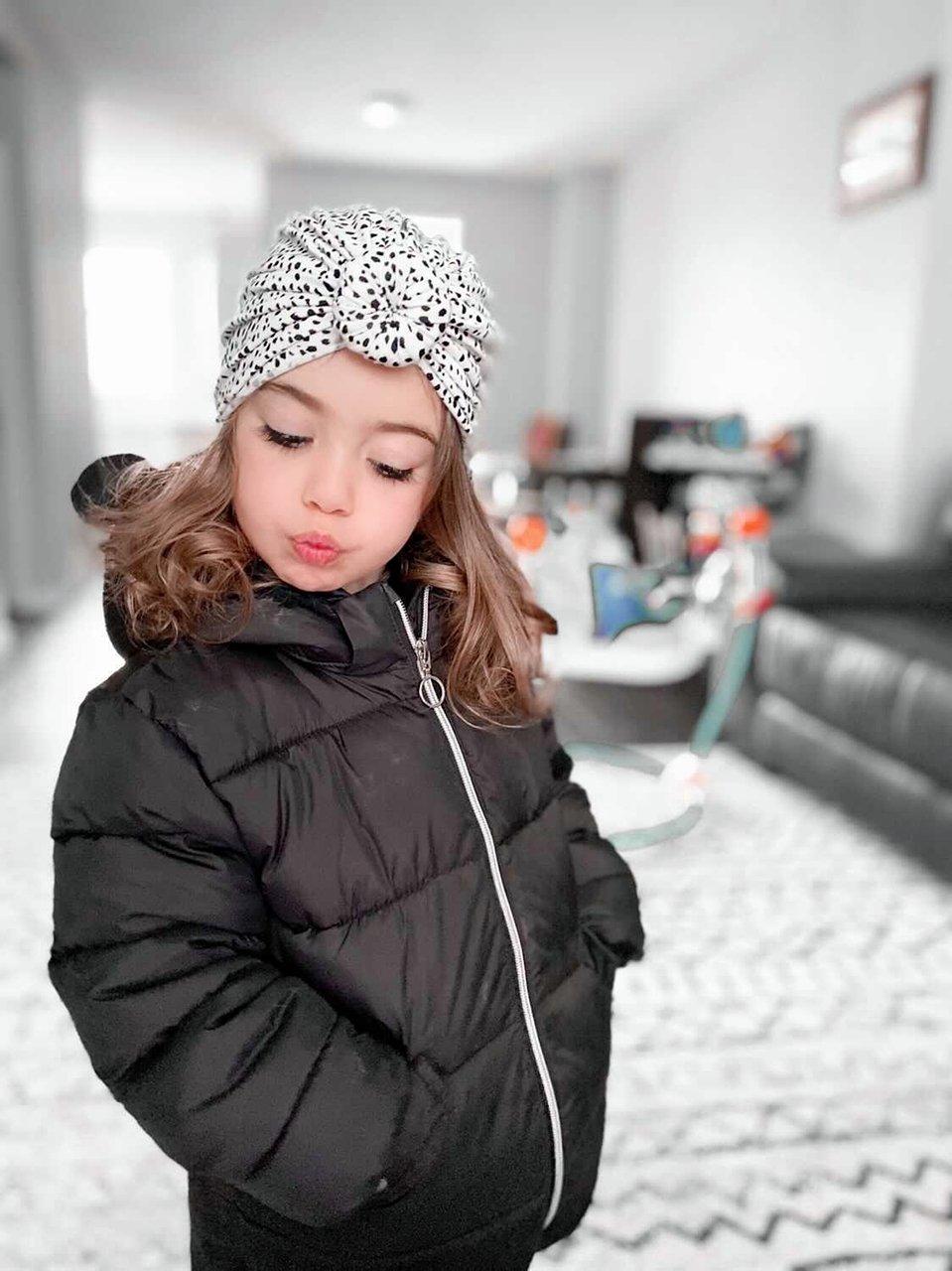 Image of Aspyn spots knot turban