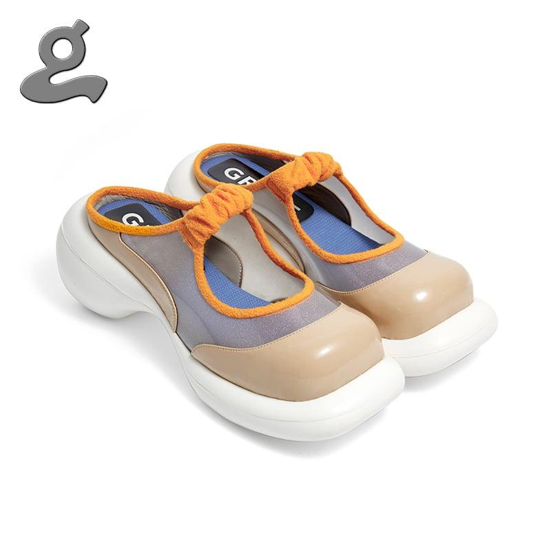 Image of Orange mosaic platform Shoes