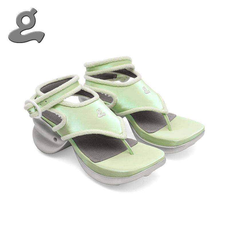 Image of Green polarized light flip flops