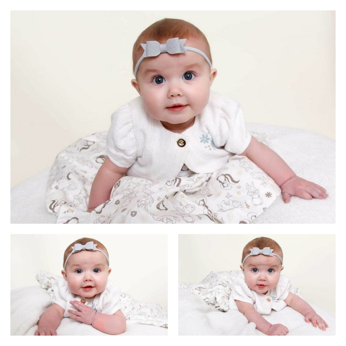 Image of CHOOSE YOUR COLOUR - Small Felt Bow with Matching Headband or Clip - Choice of 33 Colours