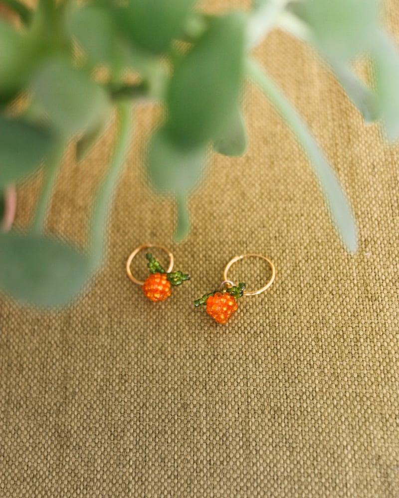 Image of Orange earrings