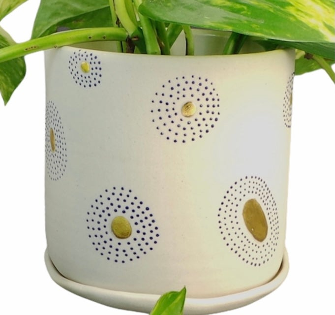 Image of Protection eye planter and drip dish (8.5x9 cm)