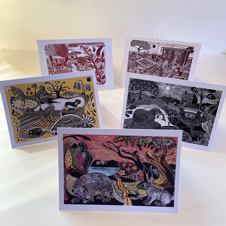 Image of OFFER - Set of all 5 traditional greetings cards