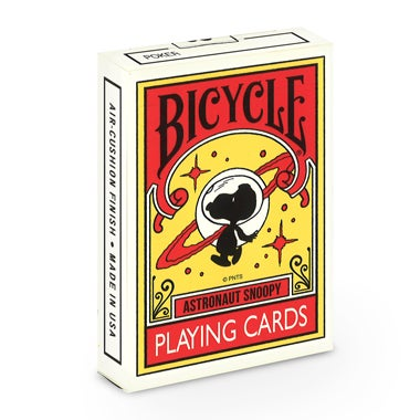 Image of PEANUTS ASTRONAUT SNOOPY BICYCLE PLAYING CARDS