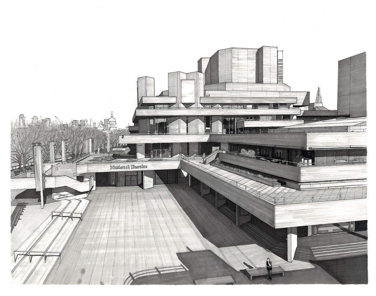 NATIONAL THEATRE, ST PAUL'S & THE SHARD // LIMITED EDITION PRINT