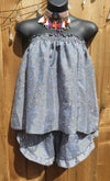 LouLou two piece shorts and top Grey