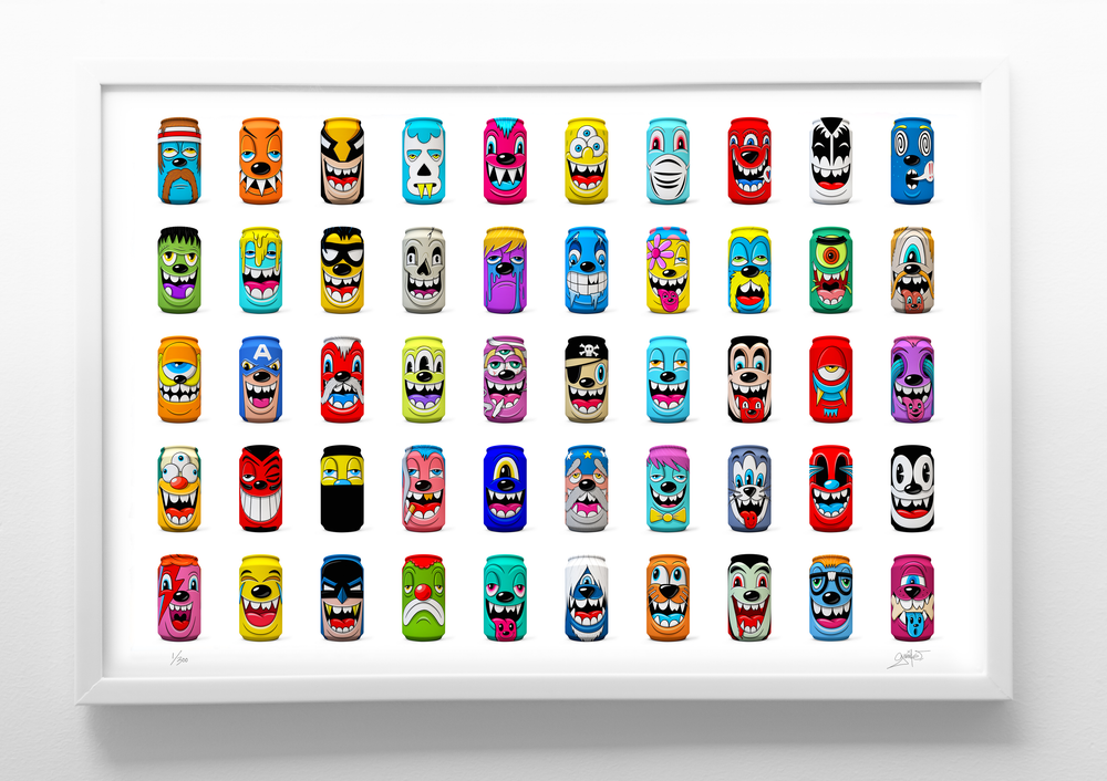 """Image of """"Mad Cans"""" Series 1 Print"""