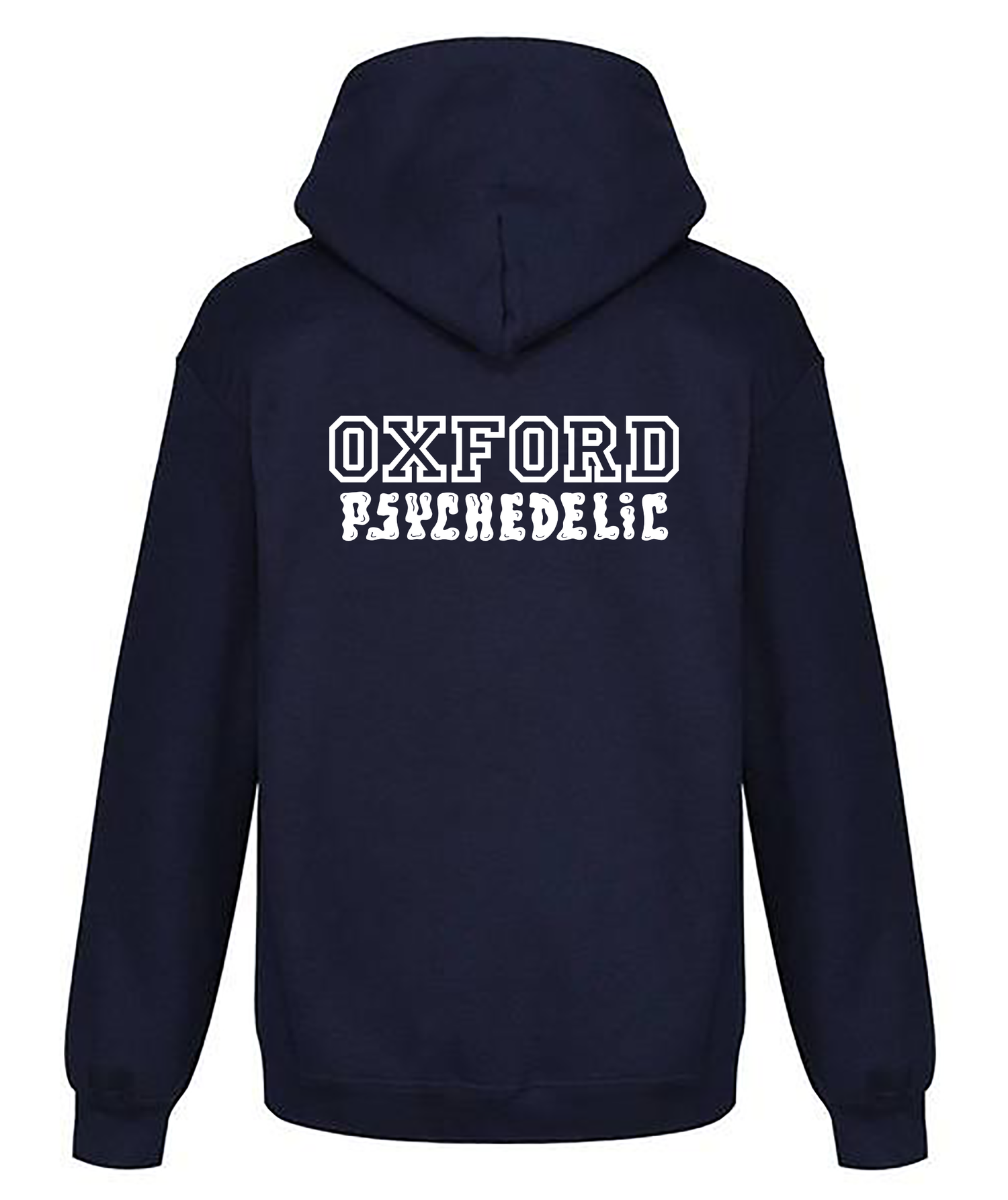 Image of Pre-order varsity unisex pull-over hoodie navy (certified organic cotton by Earth Positive)