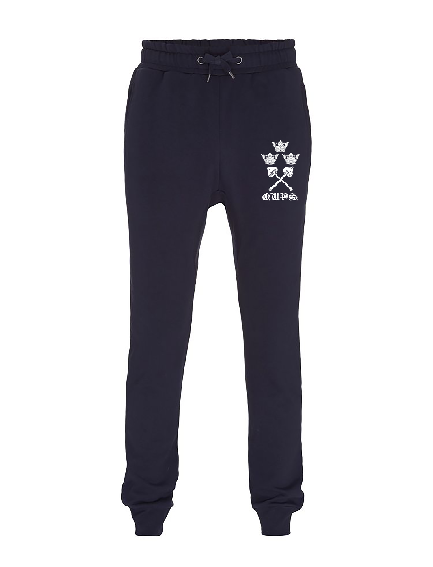 Image of Pre-order varsity unisex sweat pants (joggers) navy (certified organic cotton by Earth Positive)