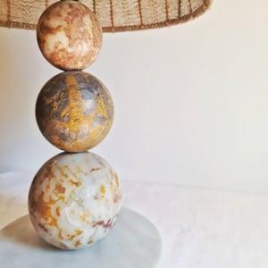 Exceptionnelle lampe ancienne 1970 en marbre