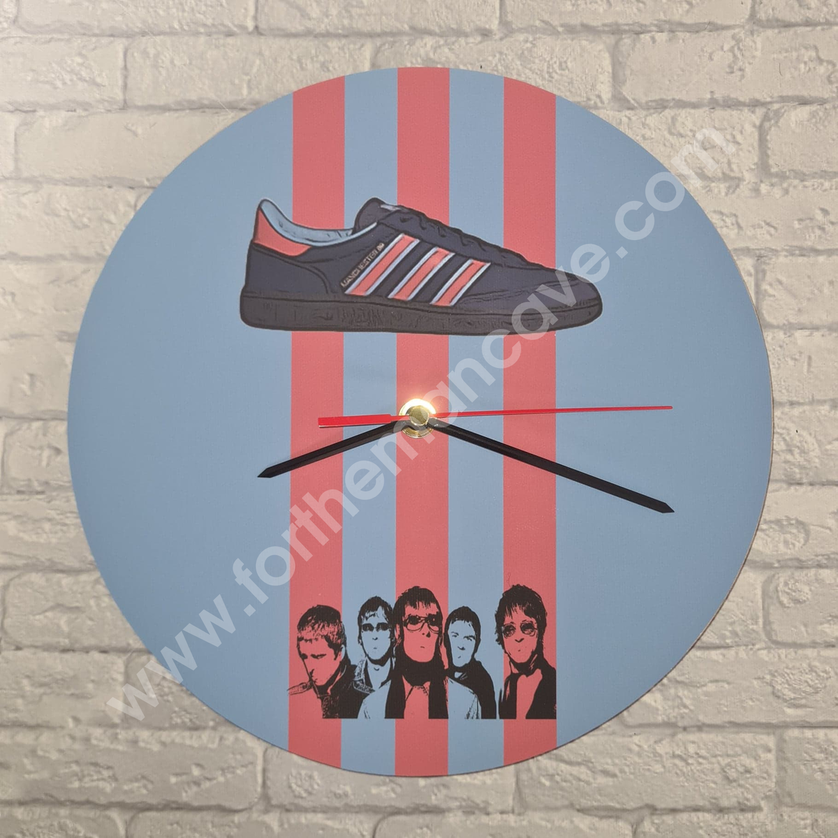 Image of MANCHESTER 89 - OASIS INSPIRED / THREE STRIPE CLOCK