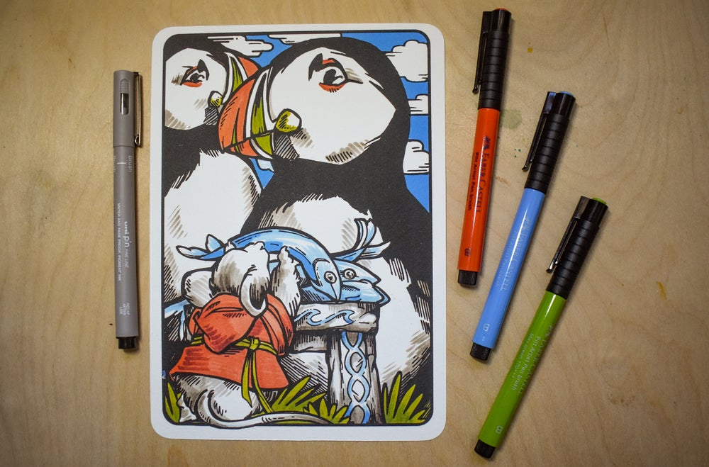 Image of Altar of the Puffin Lords - Art Print