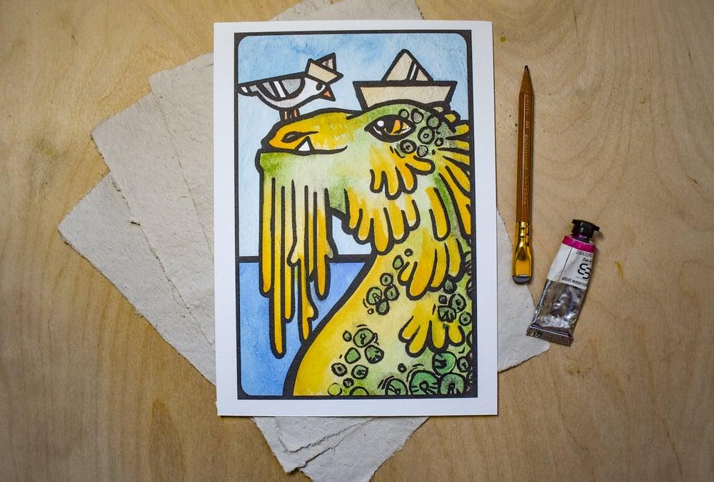 Image of Seamonsters and Seagulls - Art Print