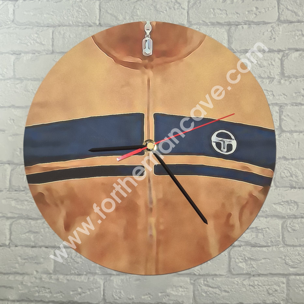 Image of WATERCOLOUR STYLE BROWN SERGIO JACKET CLOCK