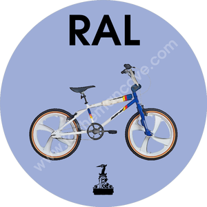 Image of WATERCOLOUR STYLE RALEIGH BMX BURNER WHITE / THREE STRIPE CLOCK (PLAIN AVAILABLE)