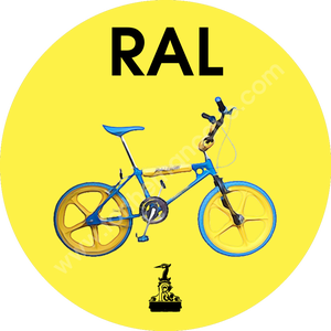Image of WATERCOLOUR STYLE RALEIGH BMX BURNER BLUE / THREE STRIPE CLOCK (PLAIN AVAILABLE)