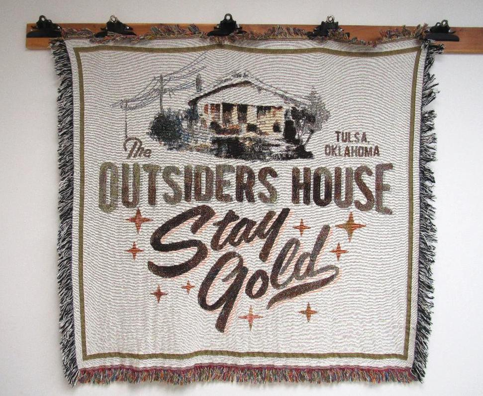 Image of The Outsiders House Museum Woven Tapestry Blanket.