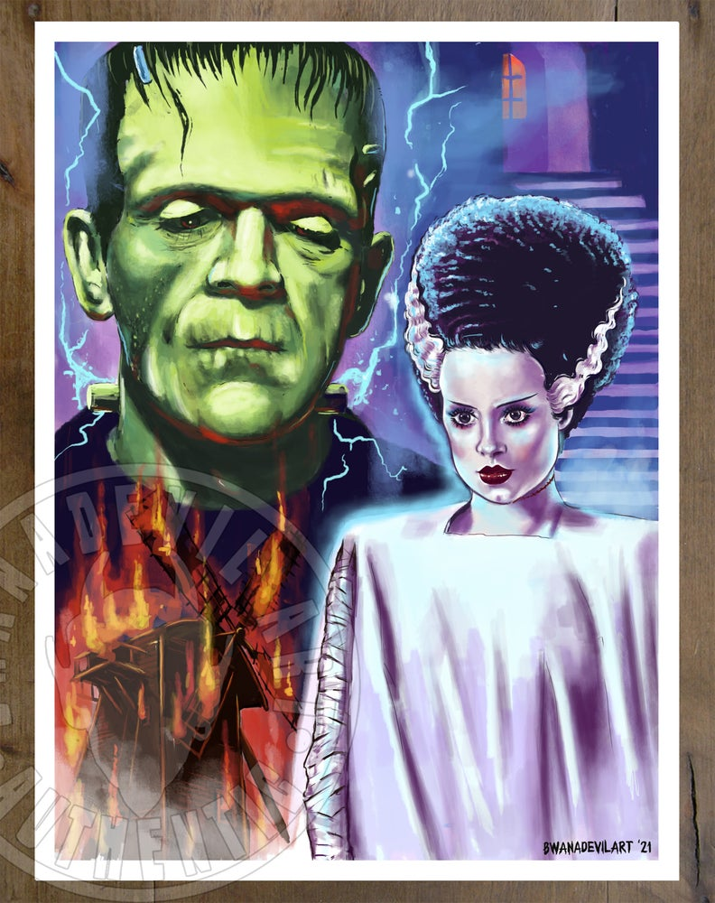 Image of The Monster and Bride Art print (9x12 in.)