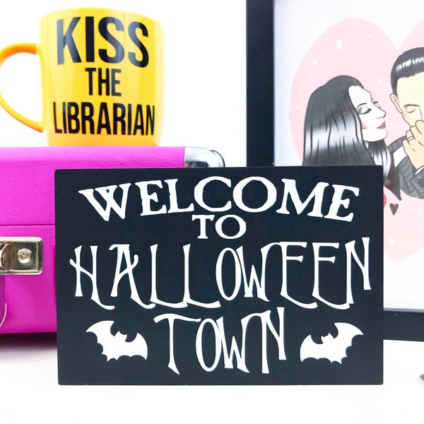 Image of Halloween Town Freestanding Sign