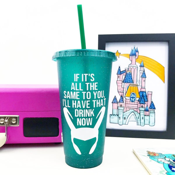 Image of God of Mischief Reusable Glitter Cold Cup