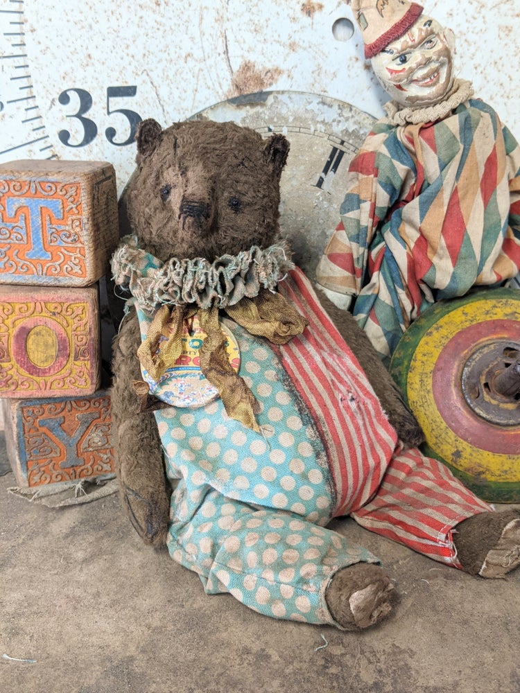 "Image of 9"" - Vintage Schoenhut Toy Circus Teddy Bear by Whendi's Bears"