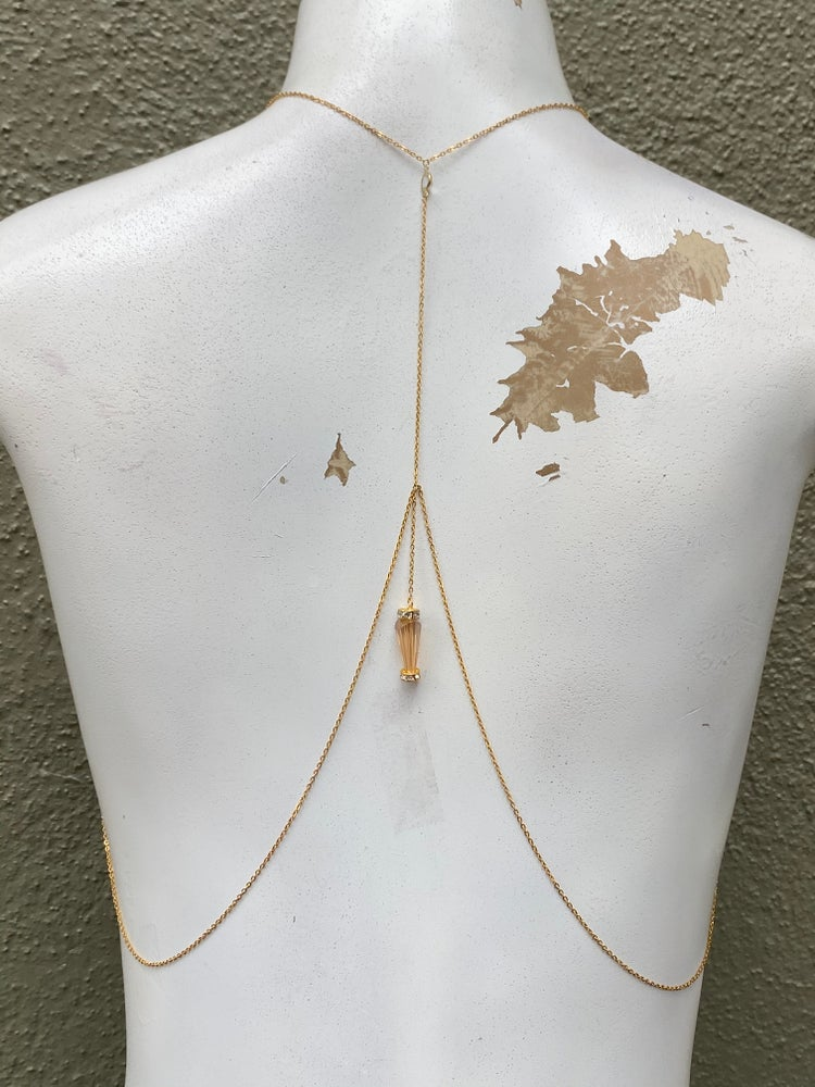 Image of CRYSTAL BACK BODY CHAIN