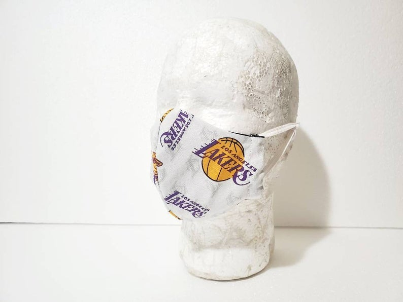 Los Angeles Lakers Fitted Face Mask