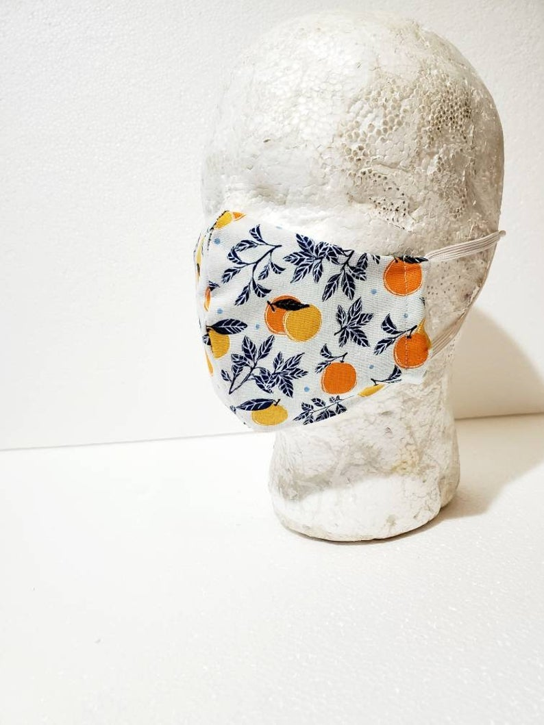Oranges Fitted Face Mask