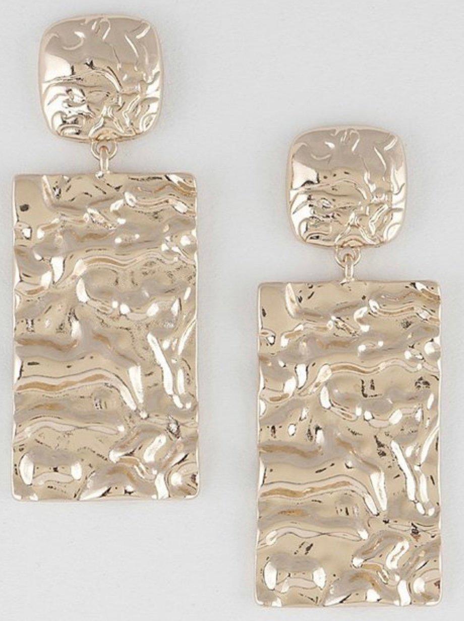 """""""Gold Crush"""" Earrings"""