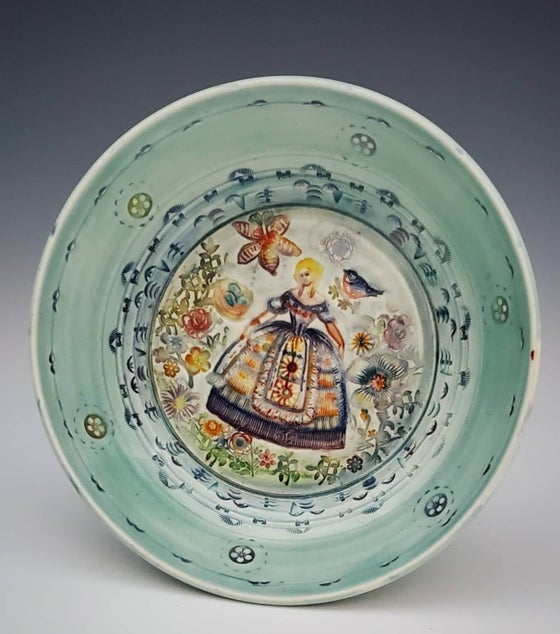 Image of Garden Dress Porcelain Dish